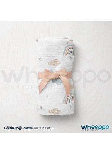 Wheeppo Gökkuşağı Müslin Örtü   70*80 Cm Renkli